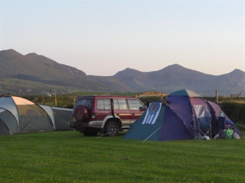 Camping at Cae Clyd